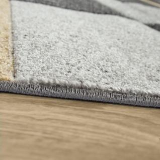 Moderner Kurzflor Teppich Wohnzimmer Design Mehrfarbig Kariert Akzente Gelb - Vorschau 2