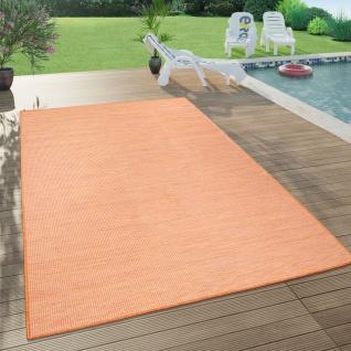 In- & Outdoor-Teppich Für Wohnzimmer, Balkon, Terrasse, Flachgewebe Terracotta