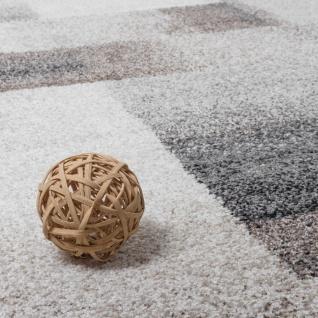 Teppich Meliert Modern Webteppich Hochwertig Kariert Beige Creme Grau - Vorschau 3
