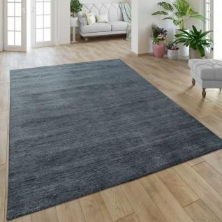 Teppich Handgefertigt Hochwertig Baumwolle Viskose Elegant Meliert In Anthrazit