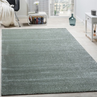 Designer Teppich Frieze Teppiche Luxuriös Schimmer Glanzeffekt Pastell Mint Grün
