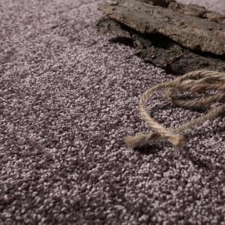 Designer Teppich Frieze Teppiche Luxuriös Schimmer Glanzeffekt Uni Pastell Lila - Vorschau 3