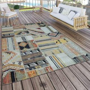 In- & Outdoor Teppich Modern Ethno Muster Terrassen Teppich Bunt