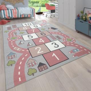 Teppich Kinderzimmer Kinderteppich Spielteppich Straßen Design Mit Hüpfkästchenspiel