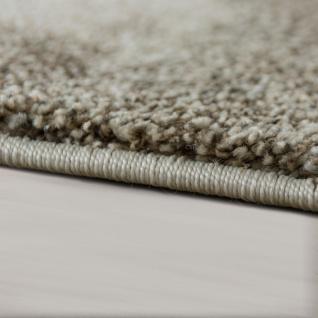 Designer Teppich Wohnzimmer Webteppich Kariert Webteppich In Grau Creme - Vorschau 2