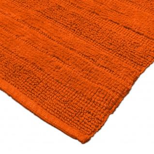 Badematte Badteppich Badezimmerteppich aus Baumwolle Einfarbig in Orangev - Vorschau 3