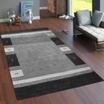 Teppich Handgewebt Gabbeh Hochwertig 100% Wolle Meliert Bordüre In Grau