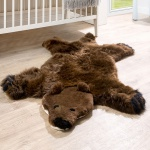 Australisches Lammfell Naturfell Spielteppich Kinderzimmer Dekofell Braunbär Braun