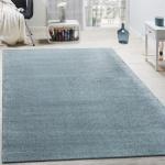 Designer Teppich Frieze Teppiche Luxuriös Schimmer Glanzeffekt In Pastell Türkis