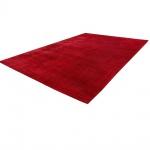 Teppich Handgefertigt Hochwertig 100% Viskose Cord Optik Vintage Glanz Uni Rot