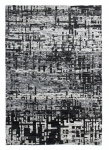 Handgewebter Sari Seide Teppich Grau