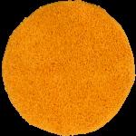 Runder Teppich Langflor Shaggy Hochflor Teppiche Orange Rund 67 cm AUSVERKAUF