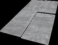 Bettumrandung Teppich Einfarbig mit Handgearbeitetem Konturenschnitt Uni Grau