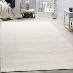 Designer Teppich Frieze Teppiche Luxuriös Schimmer Glanzeffekt In Uni Creme