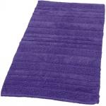 Badematte Badteppich Badezimmerteppich aus Baumwolle Einfarbig in Lila