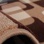Bettumrandung Läufer Retro Design Braun Beige Creme Läuferset 3 Teilig