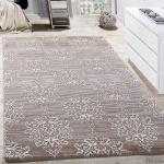 Teppich Wohnzimmer Klassisch Floral Muster Ornament Abstrakt Meliert Beige Creme