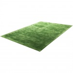 Teppich Handgefertigt Hochwertig 100 % Viskose Vintage Aufällig Meliert In Grün