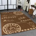 In- & Outdoor Teppich Modern Flachgewebe Sisal Optik Coffee Braun Beige Töne