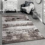 Designer Teppich Modern Wohnzimmer Teppich 3D Shabby Chic Design In Braun Grau