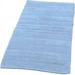 Badematte Badteppich Badezimmerteppich aus Baumwolle Einfarbig in Hell Blau