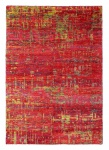 Handgewebter Sari Seide Teppich Rot