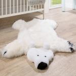 Australisches Lammfell Naturfell Spielteppich Kinderzimmer Dekofell Eisbär Weiß