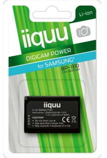 GP iiquu Ersatz-Akku für Samsung BP-1310 BP1310 NX5 NX10 NX11 NX20 NX210 NX1000