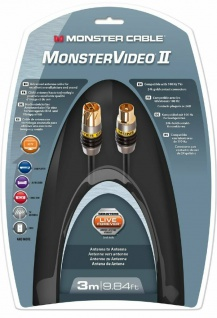 Monster HQ 3m Antennen-Kabel Digital Koaxial-Kabel Koax-Kabel UHD-TV HD-TV