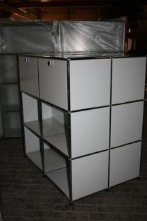 USM Haller Doppelregal Sideboard 12 Fächer Lichtgrau