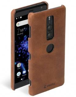 Krusell Cover Leder Hard-Case Schale Hülle Tasche für Sony Xperia XZ2 Premium