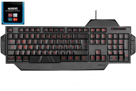 Speedlink USB LED Gaming Tastatur QWERTY DNK Dänemark Dänisch Keyboard-Layout