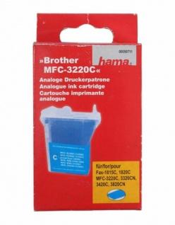 Hama Drucker-Patrone Tinte Cyan für Brother Fax-1815C 1820C MFC-3220C MFC-3420C
