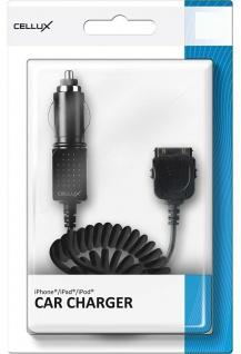 Cellux KFZ Ladegerät Ladekabel Auto-Lader für Apple iPhone 4s 4 3GS 3G 2G iPod