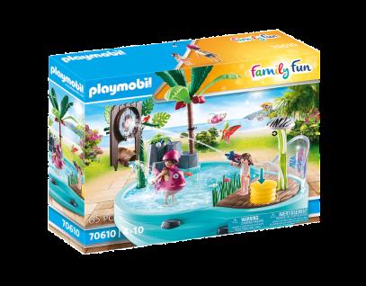Playmobil 70610 Spaßbecken mit Wasserspritze Spielzeug Kinder-Pool Planschbecken