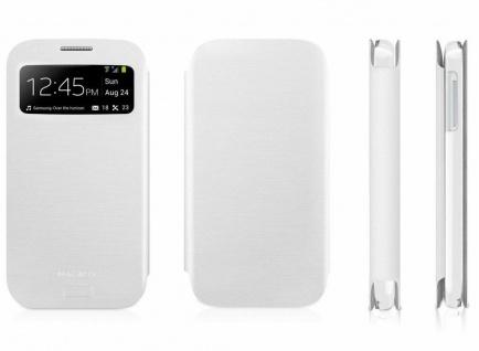 Macally Schutz-Hülle Sichtfenster Case Flip Cover Tasche für Samsung Galaxy S4
