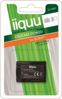 iiquu Akku für Sony NP-FV50 HDR-CX160 CX180 CX190 CX200 CX210 CX220 CX740 CX700