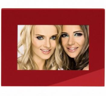Hama Portraitrahmen Glas Rot 10x15cm Portrait Bilder-Rahmen Foto Bild Porträt