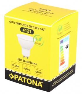 Patona LED-Lampe GU10 Strahler Reflektor 6W / 35W Warm-Weiß 3000K Leuchtmittel - Vorschau 4