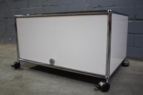 USM Haller Lowboard Regal Medienboard 75x50 weiß Klappe Einschub-Tür weiß