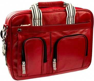 "Krusell Breeze Notebook-Tasche Leder rot Laptop-Bag 15"" 15, 4"" 15, 6"" 16"" Hülle"