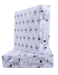Office Point Kopier-Papier 80g/m² DIN A4 2500 Blatt Standard Weiß Drucker-Papier