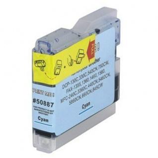 Hama PrintMe Analoge Druckerpatrone für B10 Brother DCP-130C Tinte Cyan Blau