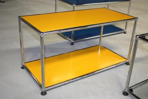 USM Haller Sideboard Fach Regal Beistelltisch Tisch gelb Medienschrank Board