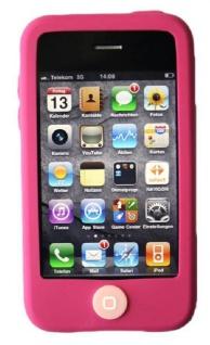 Hama Silikon Skin PINK Schutz-Hülle Tasche Case Cover für Apple iPhone 3G 3GS