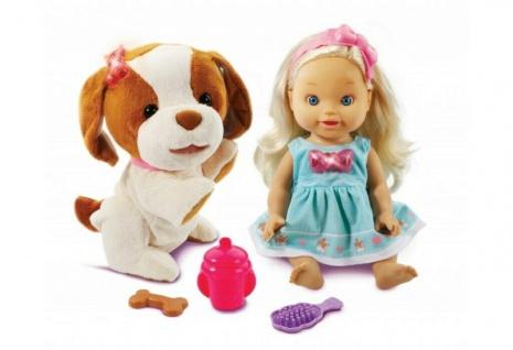 Vtech Little Love Baby-Puppe Lea mit Hündchen Hund Interaktiv Lern Kinder-Puppe