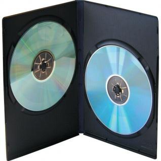 Vivanco Doppel DVD HARDCOVER LEERHÜLLE 5er Set Schwarz