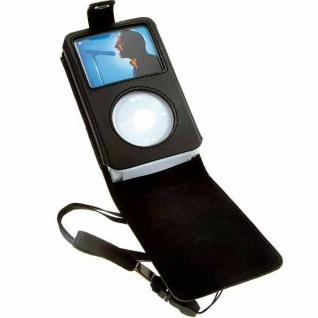 Vivanco MP3 Tasche Case LEDER Klapptasche Hülle für Apple iPod Video 60GB 80GB