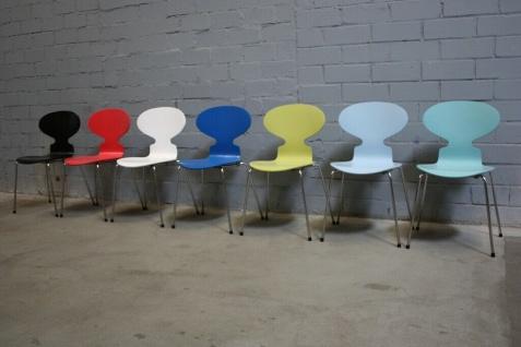 Design Fritz Hansen by Arne Jacobsen 3101 Stuhl Ameise Chair 4-Bein stapelbar - Vorschau 3