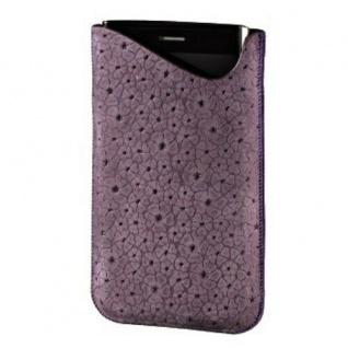 Hama Flower Power Leder Tasche Case universal für HTC Desire HD X V HD7 8S etc